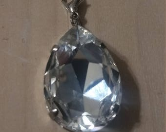 Large Pear Shaped Pendant with Lobster Clasp to attach to a necklace