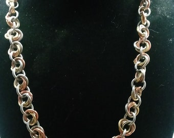 Mobius Flower Chainmail Necklace