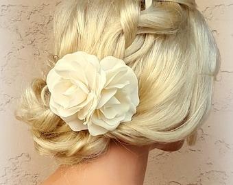 Flower Hair Clip, White Fascinator, Gardenias, Wedding Fascinator, Bridal Hair Clip, Floral Hair Clip, Gardenia Flower Hair Clip, Fascinate