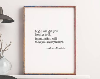 Motivational Quotes Printable Art Albert Einstein Print – Inspiration Poster Wall Art Quote Print Wall Decor Wall Saying *Digital Download*