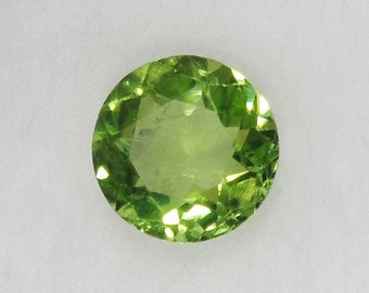 Peridot Loose Stone Round 8x8mm 2.23ct Natural Green Stone Faceted Cut Gemstone August Birthstone Jewelry Supply
