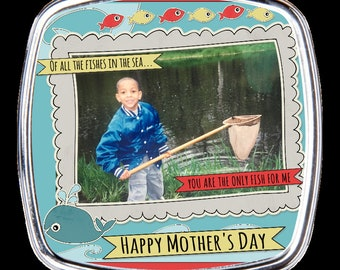 Personalized Compact Mirror - Fishing Theme