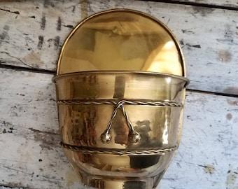 Vintage Brass /  Vintage Brass Wall Decor / Vintage Brass Plant Holder / Boho / Bohemian / Jungalow / Vintage Home