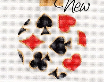 Playing Cards - Jody Designs Needlepoint Ornament - B201