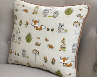 Handmade Decorative Foxes and Owls Cushion