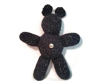Midnight Bear Crochet Belly Button Beast Plushie