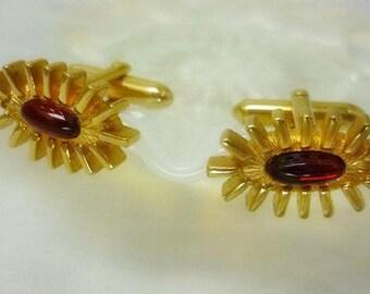 Retro Swank Gold Cuff Links,Mid Century design Cufflinks