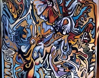 Fauna, Bob Sway - Acrylic Painting - 18X24in - 2017