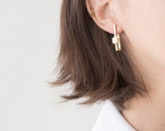 14k gold stud earrings - 14k gold earrings for women - gold earings - solid gold stud earrings - 14k yellow gold earrings - PostSolidGold