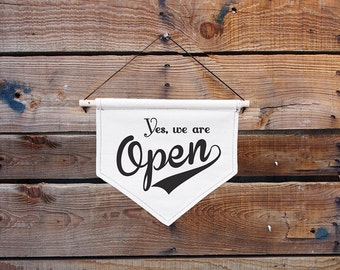 Open Sign, Open Closed Sign, Canvas, Canvas sign, Vintage style, Vintage style open closed sign