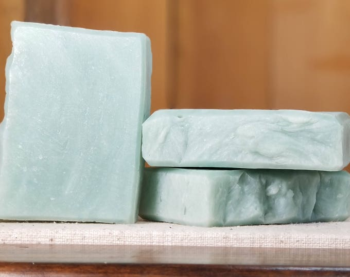 "Sage Leaf Scented Soap ""Prospero"" Soap Goddess Loves Shakespeare Soap, handmade vegetarian, lightly scented, yogurt soap, free shipping"