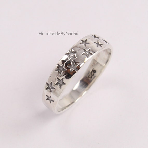 Precious Metal Without Stones 925 Sterling Silver Band Ring Size 6.5 Plain Handmade Fashion Jewelry