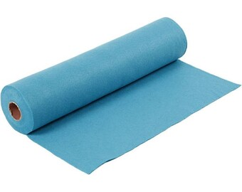 Turquoise, synthetic felt sheet, size: 100 cm * 45 cm, thickness 1.5 mm 180-200 g/m2