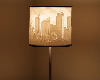 3D Printed Lithophane City Scape Lampshade