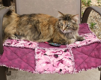Cat Bed, Cat Blanket, Small Dog Blanket, Pet Blanket, Fabric Pet Blanket, Handmade Pet Bed, Pet Couch Cover, Pet Supplies, Travel Pet Bed