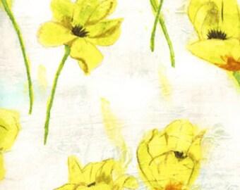 Michael Miller Fabrics Blooming Tulips in Yellow 1/2 Yard by Laura Gunn