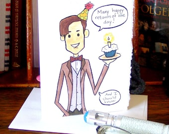 Doctor Who Birthday Card - Eleventh Doctor - Many Happy Returns of the Day