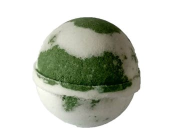 Bath bomb, Clover and Aloe bath bomb, skin soothing bath bomb, fresh scented bath bomb, clean scented bath bomb.