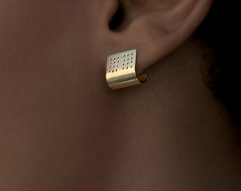 Perforated Ear Cuffs. Perforated Earrings. Minimalist.