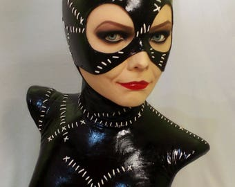 Catwoman Lifesize Bust Batman Returns Figure Michelle Pfeiffer Selina Kyle Tim burton Gotham heroes comic movie decor art