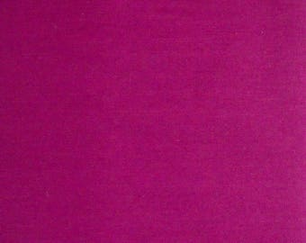 Dark Pink Solid Color Stretchy Fabric, Polyester Cotton Blend, Fabric by the Yard, Sewing Fabric Pink Dress Material