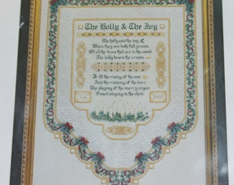 Designworks Holly and Ivy Cross Stitch Sampler Pattern Sheets