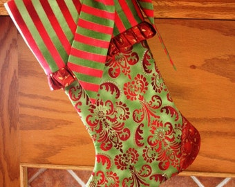 Christmas Stocking Pattern PDF FREE Big Bow Pattern Christmas Decoration, Christmas Mantle - Instant Download