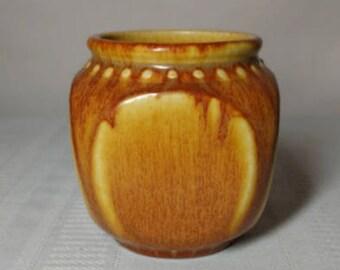 Rookwood Pottery, Arts Crafts Design, Beaded Block Geometric, Rare Mustard Glaze~~~