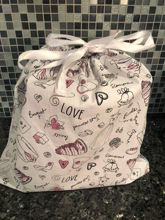 Wedding fabric gift bag