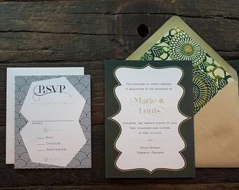 Marie Wedding Invitation Sample