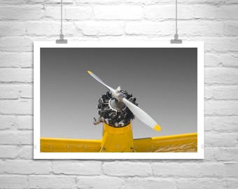 Aviation Decor, Airplane Wall Art, Crop Duster Photo, Giclee Canvas Print, Pilot Gift, Aircraft Print, Aeronautical Art, Airplane Photograph
