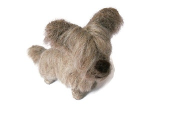Custom Dog Sculpture,Needle Felted Skye Terrier or any breed of Cat, Dog or Horse of Your Choice Made To Order
