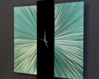 Large Wall Clock - Modern Metal Wall Art - Contemporary Metal Art
