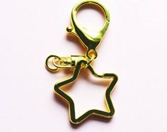 Star Shaped Keychain Keyring Combo