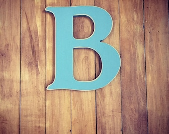Wooden Wall Letter B - Painted Letter - Caxton Font - Various sizes, finishes and colours, 9mm thick