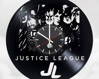 JUSTICE LEAGUE Comics Vinyl Record Wall Clock