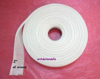Doll's cotton tubing, 22 yards/19.8m cotton gauze for crafting inner doll's head, suitable for Waldorf dolls-for small heads -made in Israel