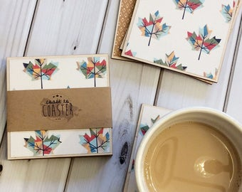 Canadian Coasters, Canadian Gifts, Canada 150, Canadian Housewarming, Maple Leaf, Leaf Coaster, Canadian Leaf, Maple Leaf Coaster, Coasters