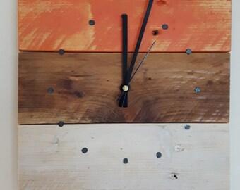 Square Wood Clock, Wood Wall Clock, Reclaimed Wood Wall Clock, Wall Clock, Pallet Wood Clock, Square Clock, Rustic Clock, Shabby Chic Clock
