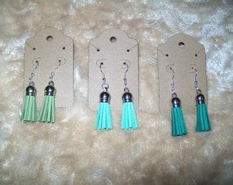 Sassy Tassels Earrings  - Greens