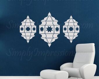 Decorative Lanterns for Ramadan Eid Wall Decal Stiker Morrocan Style Design.