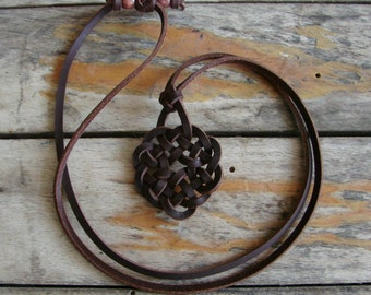 Celtic Four Seasons -- Spanish Leather Necklace