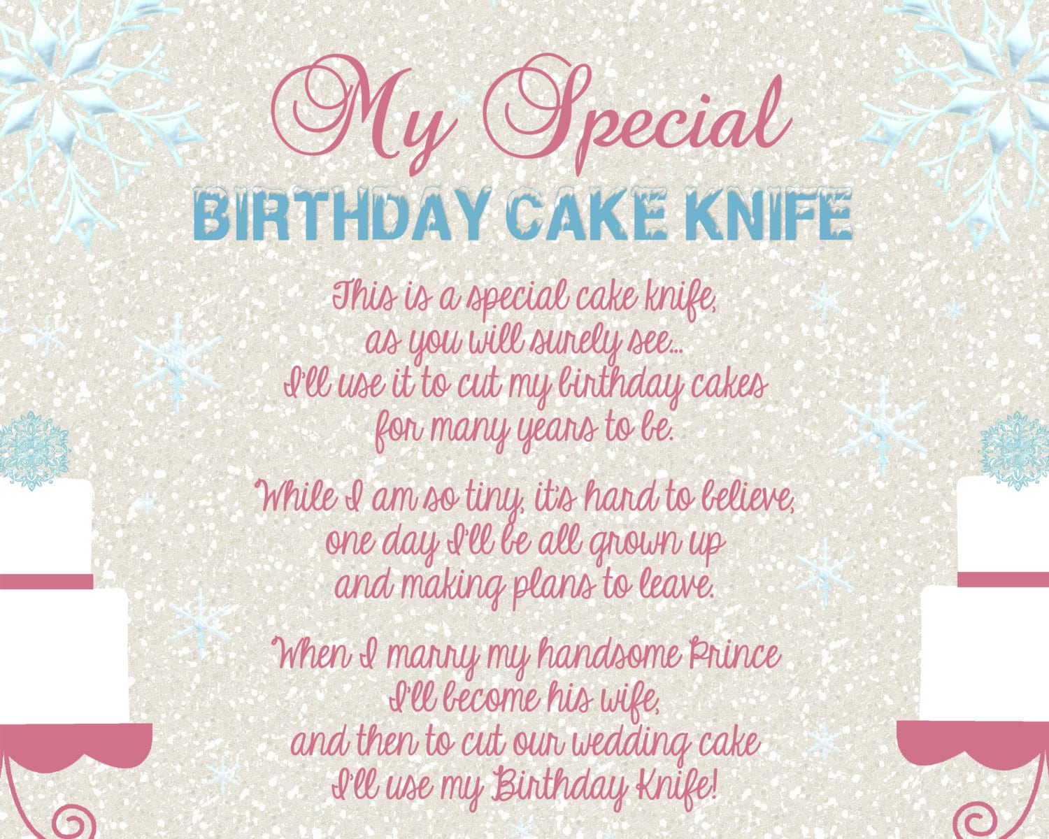Brilliant Baby Shower Cake Knife Poem Birthday Cake Personalised Birthday Cards Bromeletsinfo