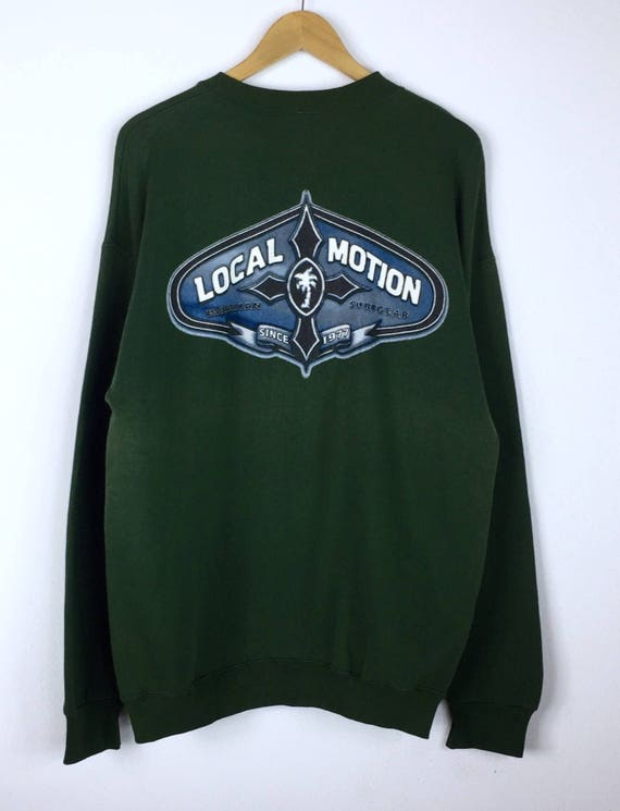 Vintage 90's LOCAL MOTION Surfboards Hawaii Sweatshirt Jumper Medium Size Great Condition