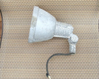 Vintage Stonco Industrial Light Fixture, Cast Aluminum and Adjustable Angle, Made in USA