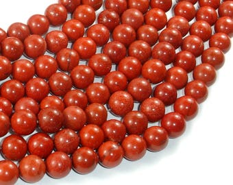 Red Jasper Beads, 8mm(8.5mm) Round Beads, 15.5 Inch, Full strand, Approx 47 beads, Hole 1mm, A- quality(371054010)