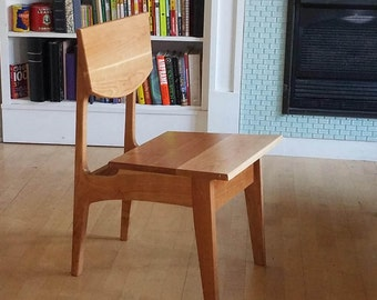 Solid Cherry Chair Danish Modern Mid Century