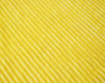 Fabric velvet thick ribs yellow