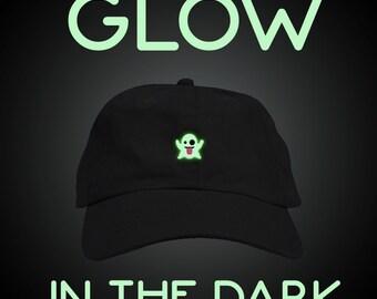 Glow in the Dark Ghost Halloween Dad Hat Baseball Cap Low Profile