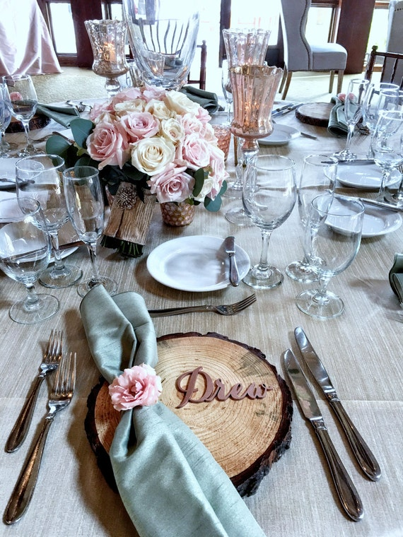 Place Setting, Guest Seating, Laser Cut Names, Guest Names, Wedding Place Cards, Place Card, Guest Setting, Place Card, Custom Name Setting